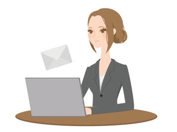 ステップメールを送る女性