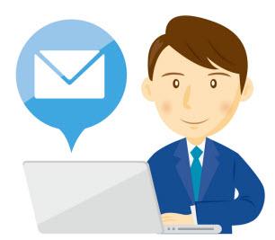 メールマーケティングを行う男性